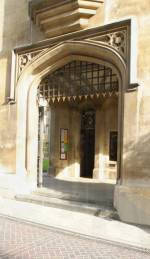 Entrance to Sidney Sussex college